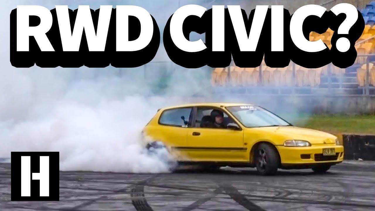RWD Honda Civic!? Wild SR20 Powered EG Hatch