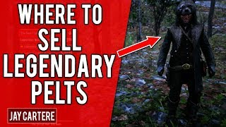 Red Dead Redemption 2 PS4 Tutorial - Where To Sell Legendary Pelts & Get Unique Outfits Video