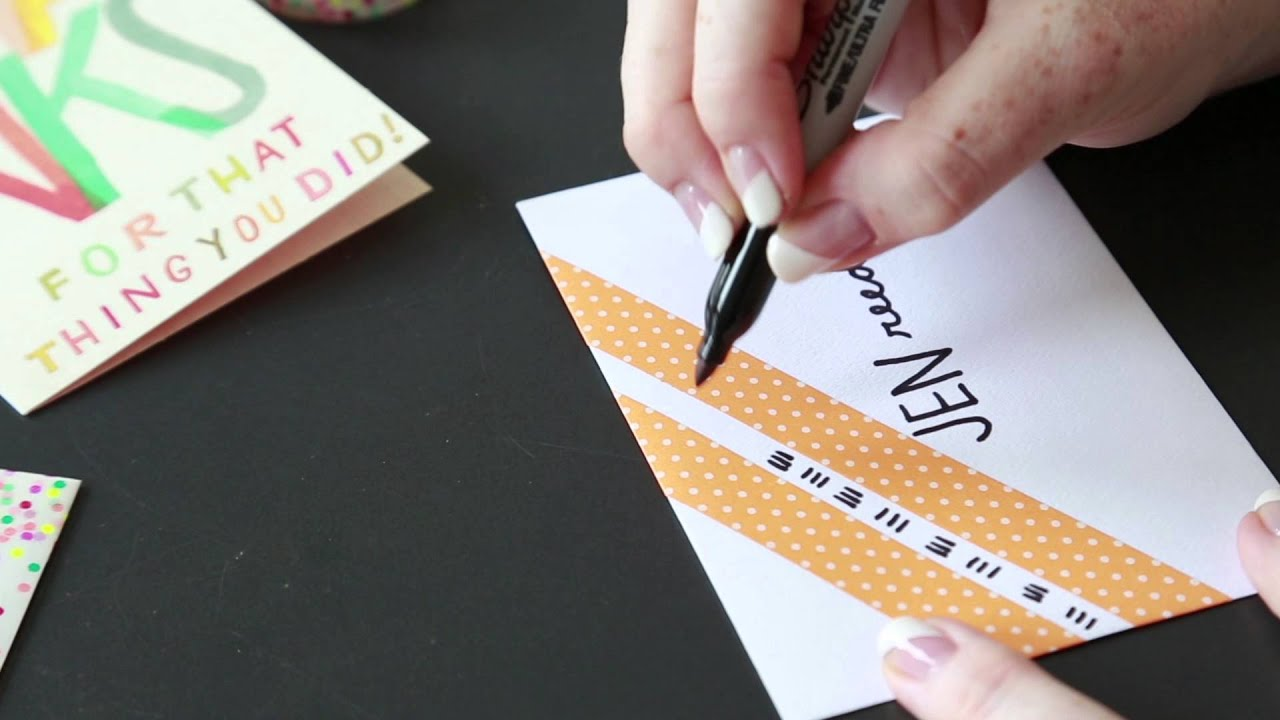 Washi tape ideas: Decorate an envelope - YouTube