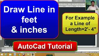 AutoCAD : Draw Line in feet and inches
