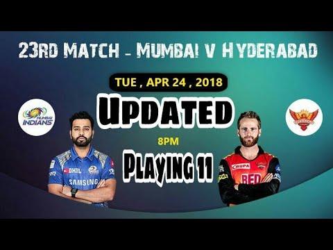 MI vs SRH Updated Playing 11 & Cricket ++ Team &Indus Games Team