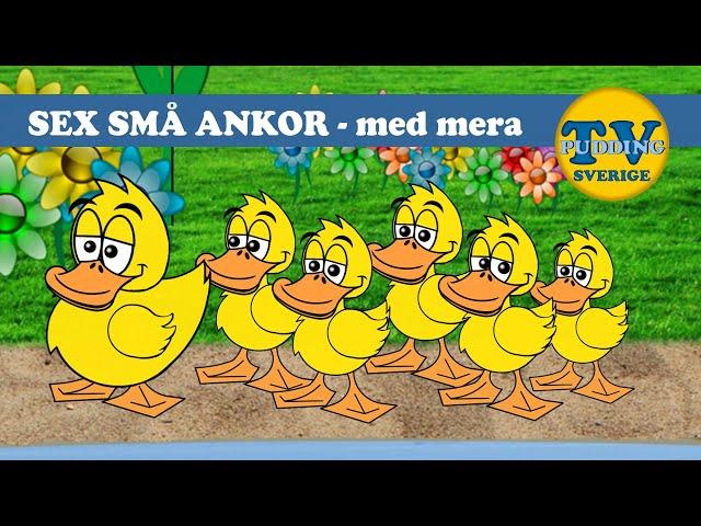 Sex små ankor - med mera | Svenska barnsånger