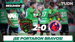 Resumen y Goles | Juárez 2 - 0 Veracruz | Liga MX - Apertura 2019  - Jornada 10 | TUDN