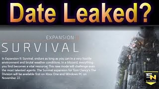 The Division: Survival Release Date LEAKED?