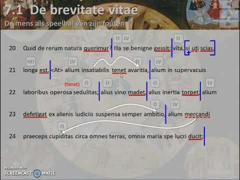 Seneca De Brevitate Vitae übersetzung
