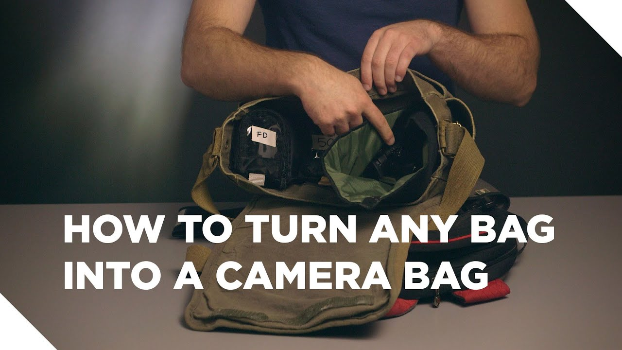 d5e64d5ca9 How to Turn Any Bag Into A Camera Bag. DSLR Video Shooter