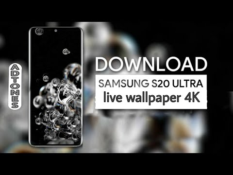 Samsung Galaxy S20 Ultra Bubbles Live Wallpaper 4k With Download Link Youtube