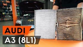 Comment changer Filtre climatisation AUDI A3 (8L1) - video gratuit en ligne