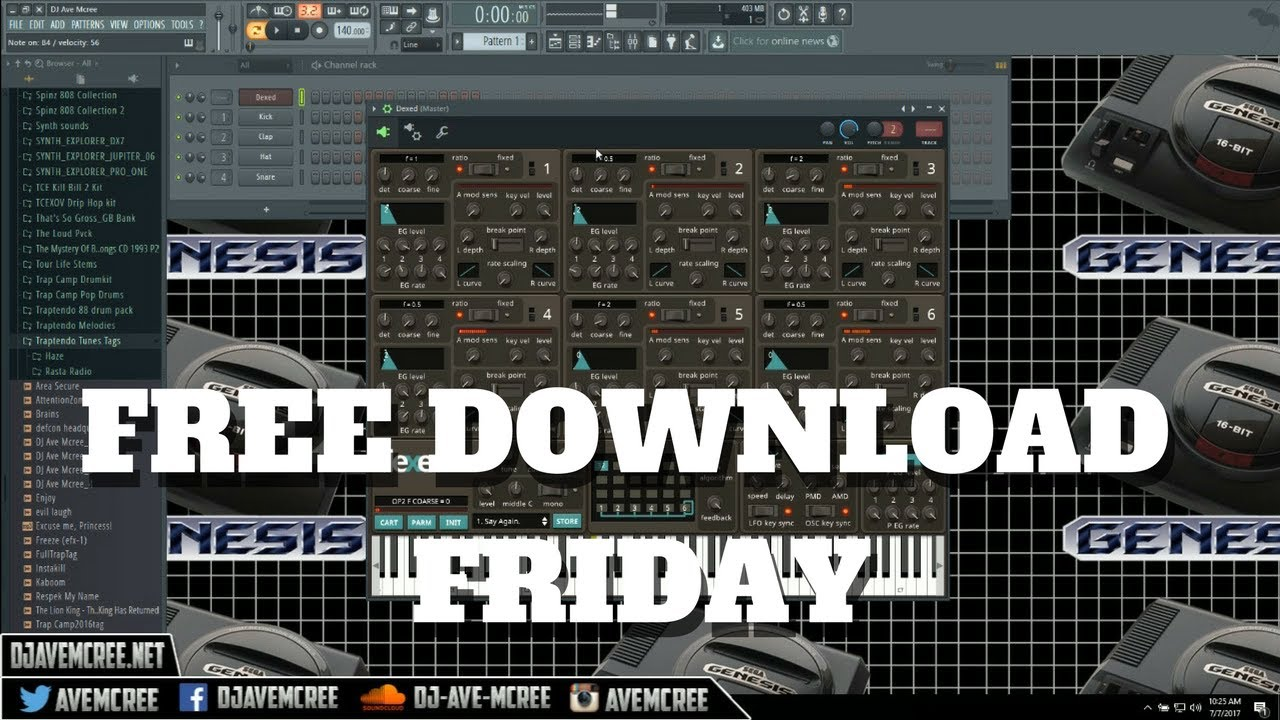 Free Download Friday | Dexed FM Plugin Synth | Win/Mac