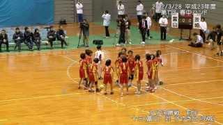 2012/3/28 平成23年度第7回春の全国中学生ハンドボール選手権2 女子決勝前半