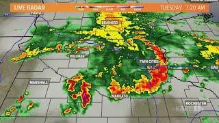 LIVE RADAR: Rain moves across Twin Cities following storm warnings