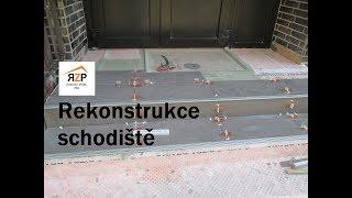 Rekonstrukce schodiště Zlín