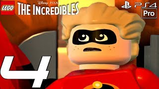 LEGO The Incredibles - Gameplay Walkthrough Part 4 - Golden Years & Vigilantes (PS4 PRO)