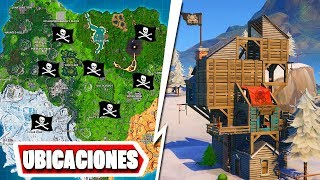 BUCANERO BUTTON - VISIT A PIRATA CAMPAIGN!! [All Locations] Fortnite