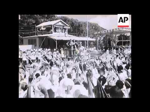 Princess Margaret's Tour of Antigua - 1955
