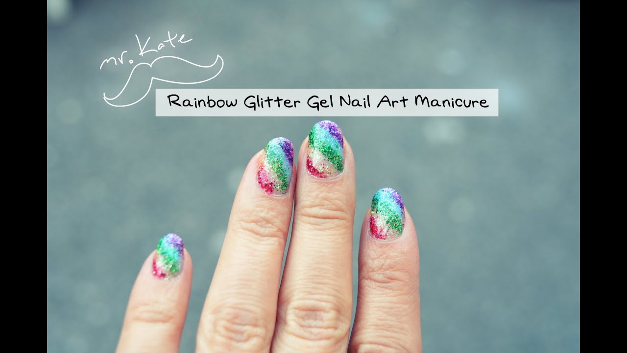 Rainbow glitter nail art gel manicure quickie tutorial by mr kate rainbow glitter nail art gel manicure quickie tutorial by mr kate prinsesfo Image collections