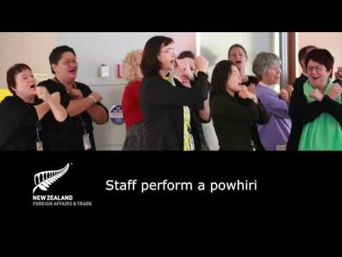 Powhiri by Ministry of Foreign Affairs and Trade staff, May 2016