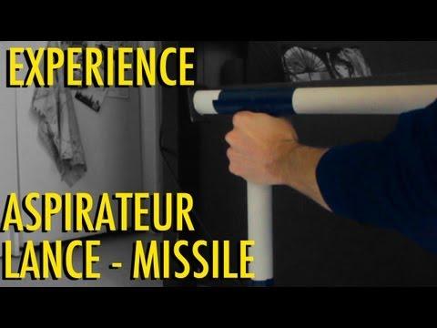 Dr Nozman - Expérience Aspirateur Lance Missile ! Facile