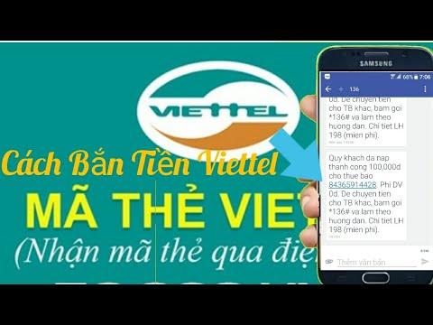 Cách chuyển  tiền Viettel (Cách bắn tiền Viettel) | Bắn tiền Viettel cho người khác  P1