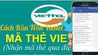 How to transfer money Viettel (How to shoot money Viettel) P1