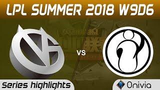 VG vs IG Series Highlights LPL Summer 2018 W9D6 Vici Gaming vs Invictus Gaming by Onivia