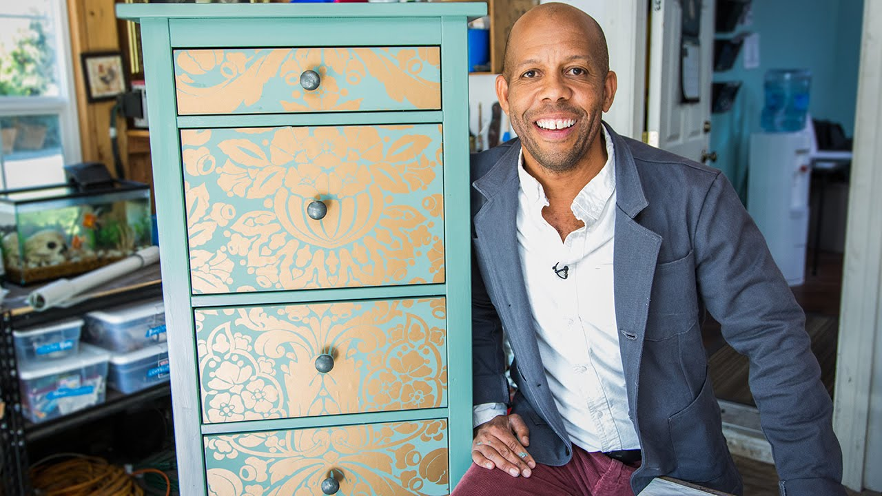 Home Family How To Makeover Your Dresser Using Wallpaper Youtube
