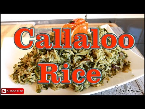 callaloo rice with Coconut milk From Chef Ricardo Cooking !!
