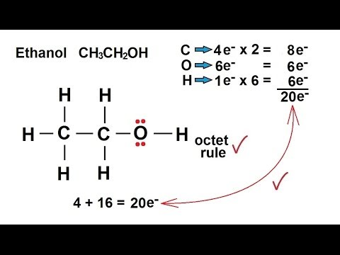 drawing lewis dot diagram tracing of panel wiring an alternator image chemistry - chemical bonding (24 35) structures ethanol ch3ch2oh youtube