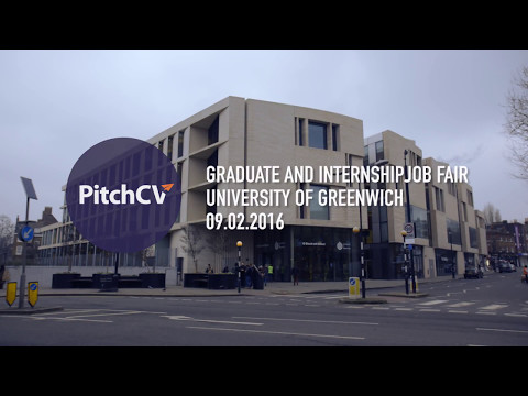 PitchCV Graduate Job Fair Hosted by the University of Greenwich London