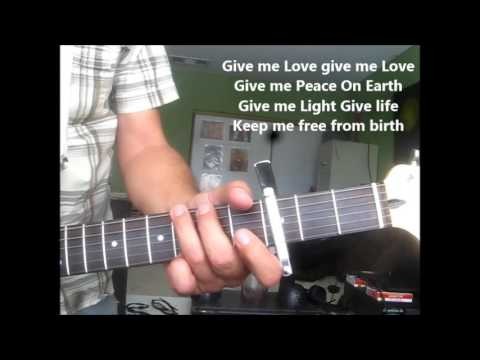 Give Me Love ~ lesson (chords only ~ version 2 ) George Harrison ...