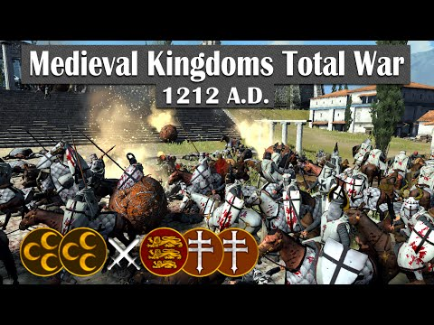 Crusader Siege - Medieval Kingdoms Total War 1212AD (2v3 Online Siege Battle #8)