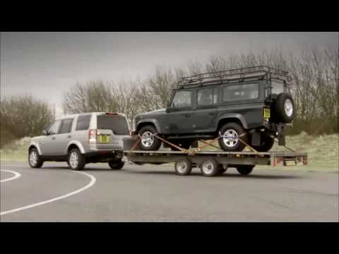 Range Rover Lr4 >> Land Rover LR4: How to hitch a trailer - YouTube
