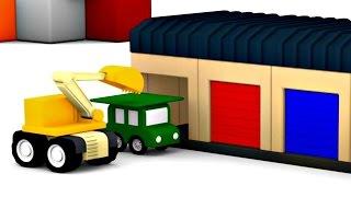 Lehrreicher Zeichentrickfilm - Die 4 kleinen Autos - Die Garage