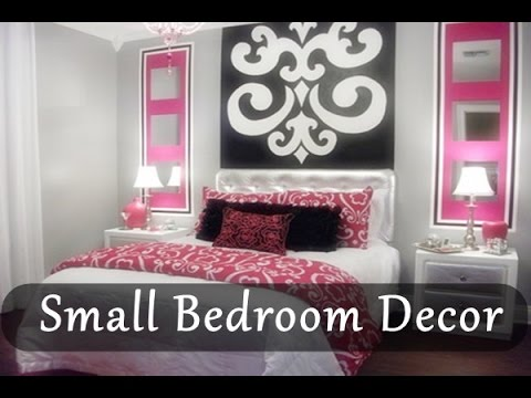 small bedroom decorating ideas small room decor 2015 2016 youtube. Black Bedroom Furniture Sets. Home Design Ideas