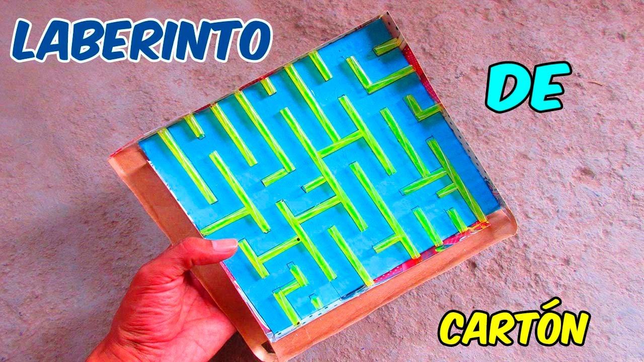 Como Hacer Un Laberinto De Carton Facil Para Ninos Juguetes Caseros
