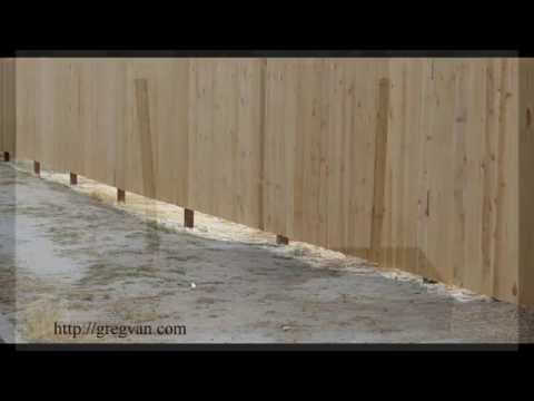 Problems With Uneven Ground And Straight Fences – Landscaping and Construction Tips