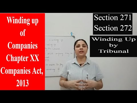 #companiesact2013 #windingupcompany #windingupbytribunal Winding Up of the Companies || Section 271