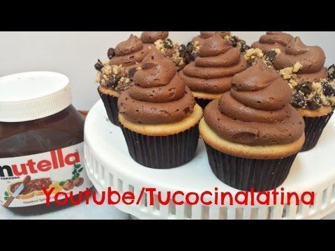 como hacer buttercream de nutella