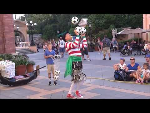 Sergio Mime & Juggler Full Show Italy Pavilion Epcot