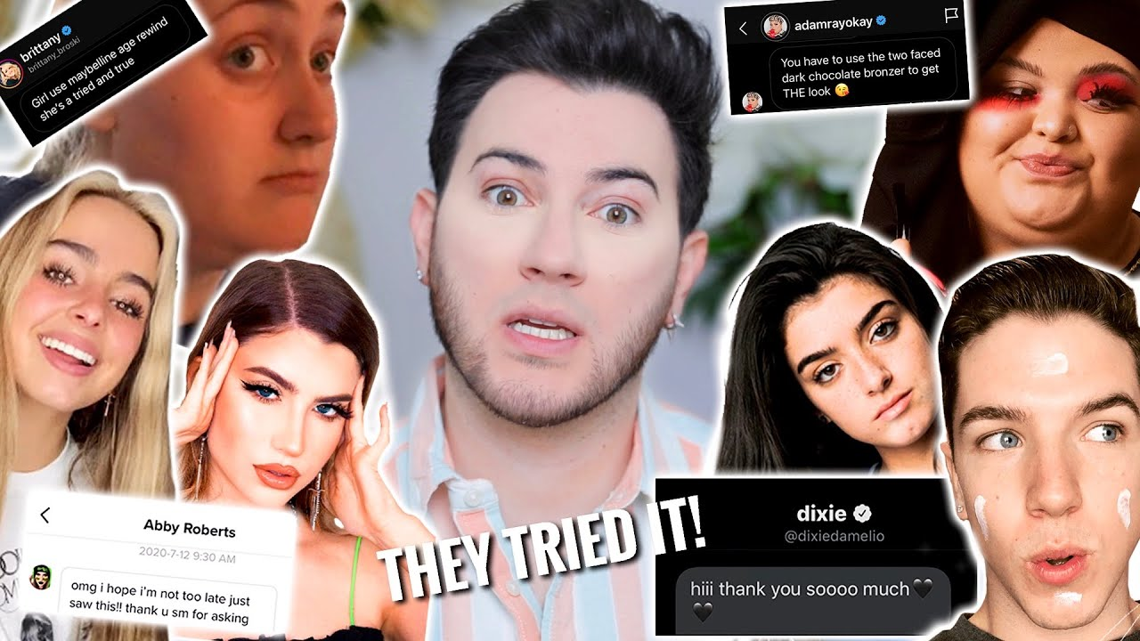 I DMed FAMOUS TIK TOK STARS TO PICK MY MAKEUP ROUTINE... HELP