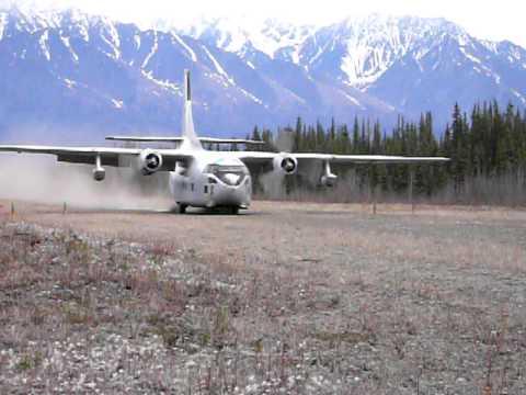 C-123 landing in Chisana