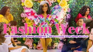 DIY - How t๐ Make: Fashion Week Doll Runway Room PLUS Etsy Shop MCreationsParis