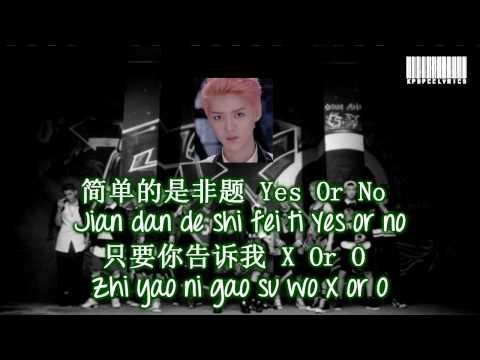 EXO M - XOXO Color Coded Lyrics