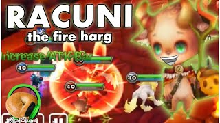 SUMMONERS WAR : Racuni the Fire Harg - (Dragons B10 Spotlight)