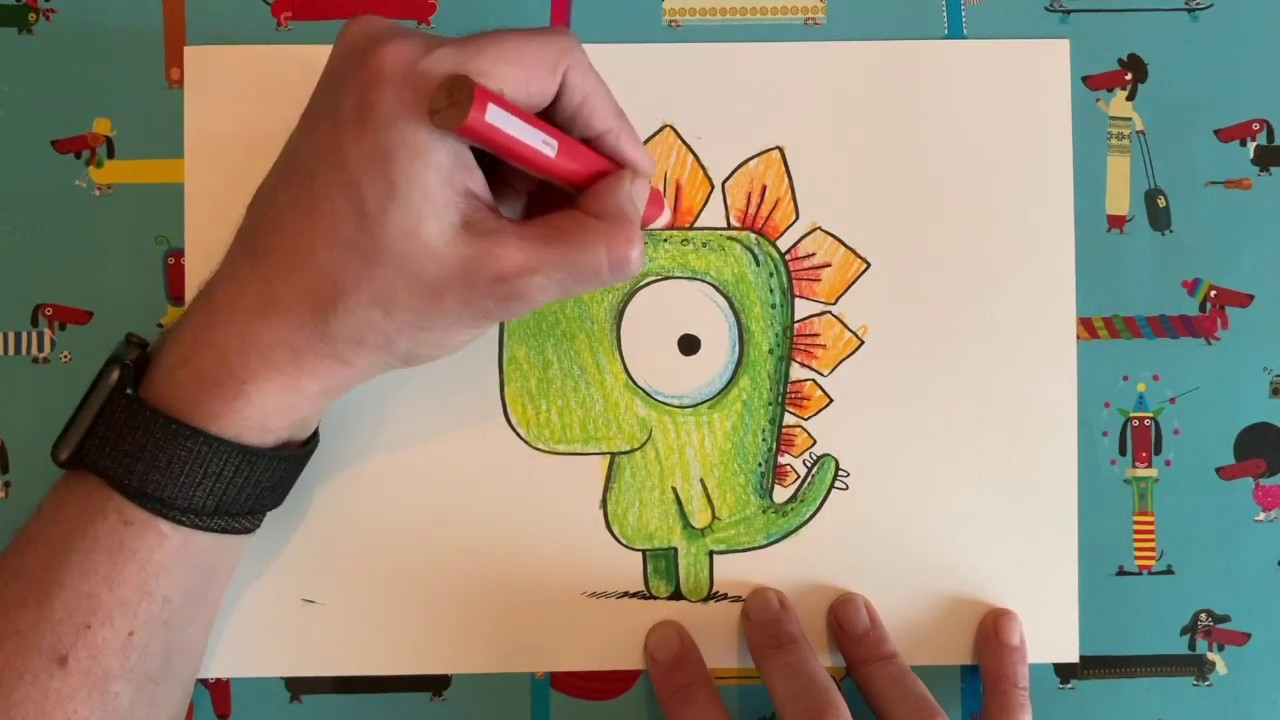 Rob Biddulph teaches us how to draw Gregosaurus - YouTube