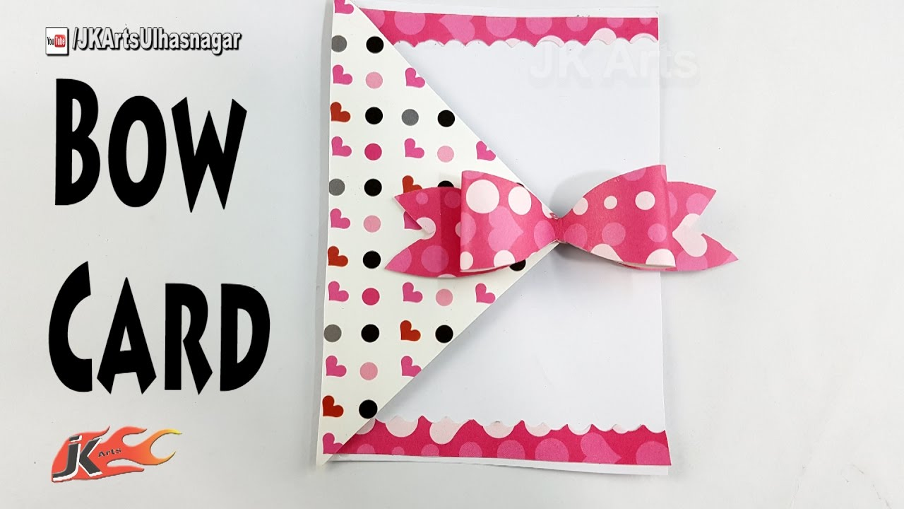 How to make scrapbook easy - How To Make A Bow Card Diy Easy Card For Scrapbook Pages Jk Arts 1217
