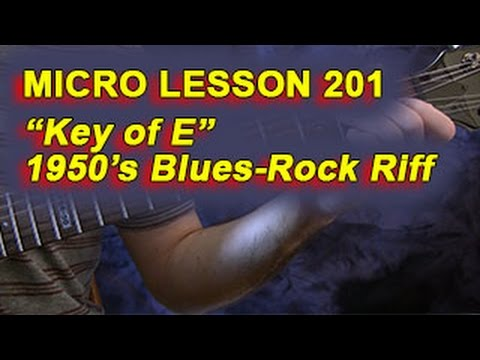 how to tell what key a riff is in