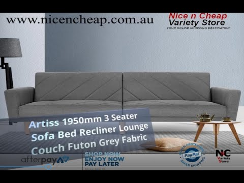 Artiss 1950mm 3 Seater Sofa Bed