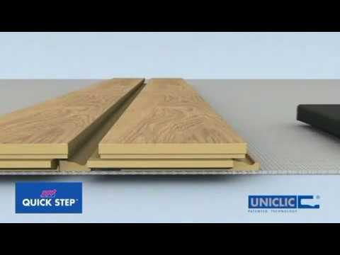 Укладка ламината Quick-step замок Uniclic
