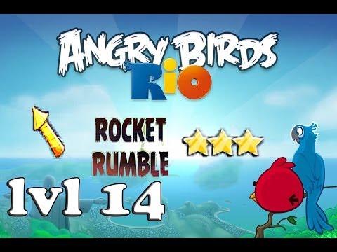 Angry birds rio rocket rumble level 14 three stars - Angry birds trio ...